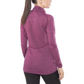 Devold Running Sweat-shirt Manches longues Col roulé Zip Femme, plum